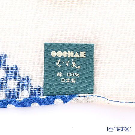 むす美 風呂敷 綿100% 日本製 20464-10248 福コチャエ おかめひょっとこブルー 48cm