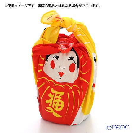 むす美 風呂敷 綿100% 日本製 20464-10348 福コチャエ だるまアカ 48cm