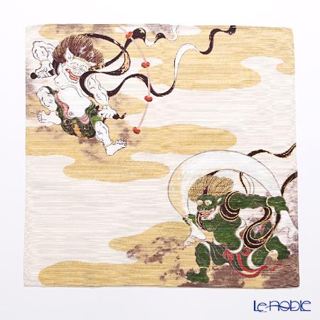 むす美 風呂敷 綿100% 日本製 20801-101チーフ 風神雷神 祥雲 クリーム 48cm