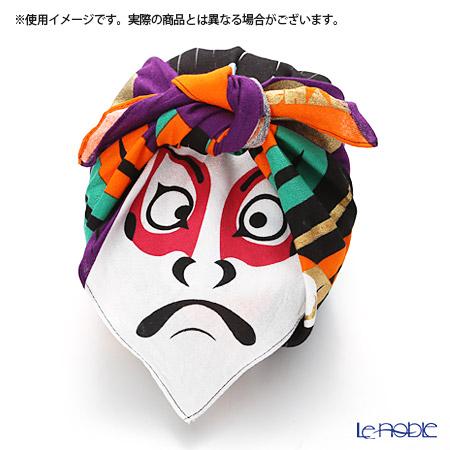 Musubi 'Fuku Cochae - Kabuki' Black Cotton Furoshiki Cloth 48cm