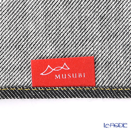 Musubi 'Soft Denim' Black Cotton Furoshiki Cloth 50cm