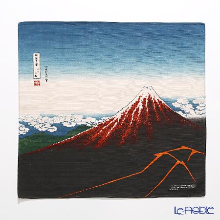 むす美 風呂敷 綿100% 日本製 20720-051チーフ隅田川 黒富士(山下白雨)チャ 48cm