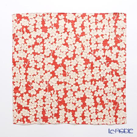 むす美 風呂敷 綿100% 日本製 20479-132チーフ伊砂文様両面ふろしき しだれ桜 ピンク/グリーン 48cm