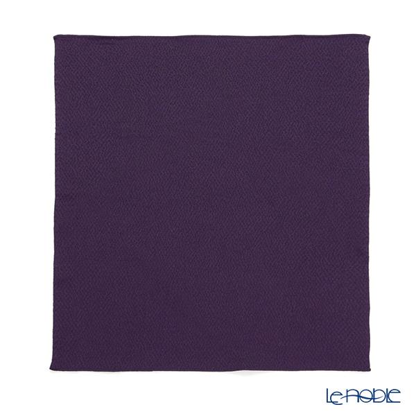 むす美 風呂敷 中巾正絹 うずらちりめん 色の歳時記 古代紫 45cm 30611-129 【桐箱入】