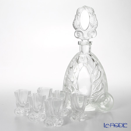 Frantisek Halama 'Mirror' Clear FH-1624CR Liqueur Glass & Decanter (set of 7 for 6 persons)