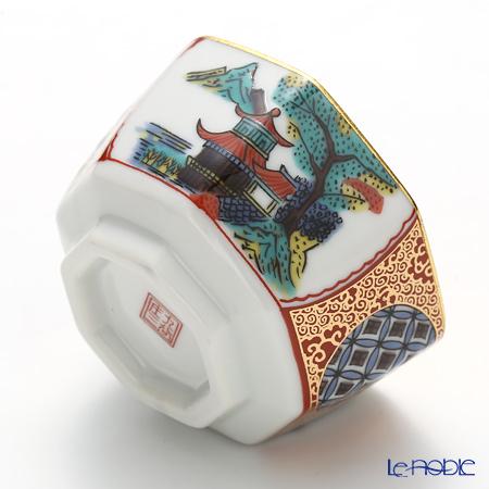 Hakuichi Kutatani porcelain Sake Cup, Shozo pattern A131-03038