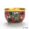 Hakuichi x Kutani Ware / Gold Leaf 'Mokubei pattern' Gold & Red Sake Cup