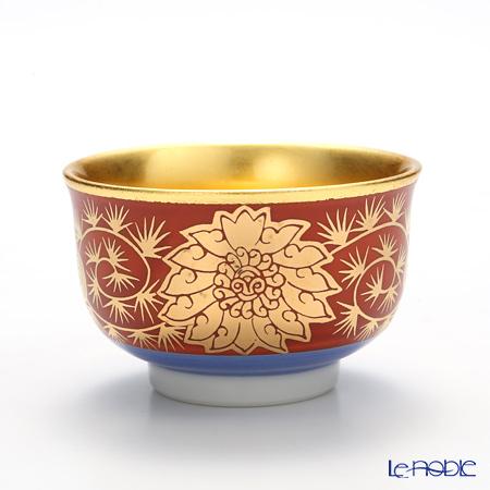 Hakuichi Kutatani porcelain Sake Cup, Eiraku pattern A131-03037