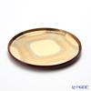 Hakuichi / Gold Leaf 'Kodai-haku / Ancient Foil' Gold Heian Round Tray 22.5cm