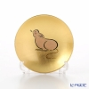 Hakuichi / Gold Leaf 'Eto / Zodiac - Mouse' Gold & Red Sake Cup 8cm