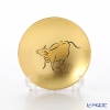 Hakuichi / Gold Leaf 'Eto / Zodiac - Ox' Gold & Red Sake Cup 8cm