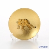 Hakuichi / Gold Leaf 'Eto / Zodiac - Tiger' Gold & Red Sake Cup 8cm