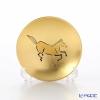 Hakuichi / Gold Leaf 'Eto / Zodiac - Horse' Gold & Red Sake Cup 8cm