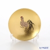 Hakuichi / Gold Leaf 'Eto / Zodiac - Rooster' Gold & Red Sake Cup 8cm