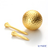 Hakuichi / Gold Leaf 'Golf' Gold Ball & Tee (set of 3)
