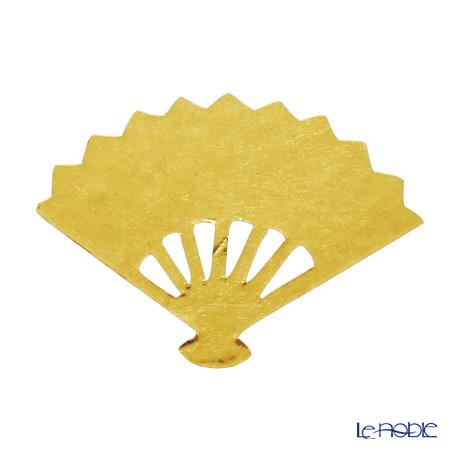 箔一 アニバーサリー金箔食用金箔 金の舞 扇 D14-6006 4枚入