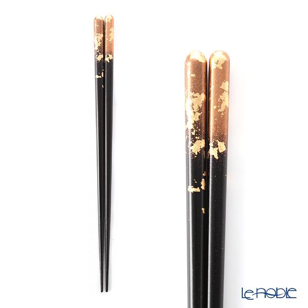 箔一 金の箸銀の箸霞流し 茜(L) 23cm