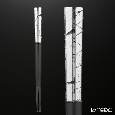 箔一 金の箸銀の箸 クリア箸 貫入 銀 23cm