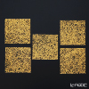 Shimmering gold-leaf A161-2004 Coaster 5 piece set (Friday) 10 x 10 cm