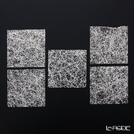 箔一 きらめくコースター 5枚組み(銀) 10×10cm A161-2005