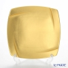 Hakuichi / Gold Leaf 'Muku / Innocent - Square' Gold Dessert Plate 20.5x20.5cm