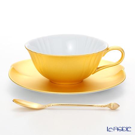 箔一 無垢 オーバル 紅茶カップ&ソーサー(スプーン付) A161-03019