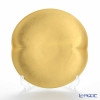 Hakuichi / Gold Leaf 'Muku / Innocent - Oval' Gold Cake Plate 16x15cm