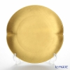 Hakuichi / Gold Leaf 'Muku / Innocent - Oval' Gold Dessert Plate 21x20cm