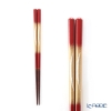 Hakuichi / Gold Leaf 'Tsuki-yo / Moonlit Night' Red & Gold Chopsticks 20.5cm (M)