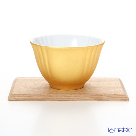 箔一 無垢 オーバル 煎茶碗・プレート A161-03021