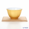 Hakuichi / Gold Leaf 'Muku / Innocent - Oval' Gold Japanese Tea Cup & Wooden Tray