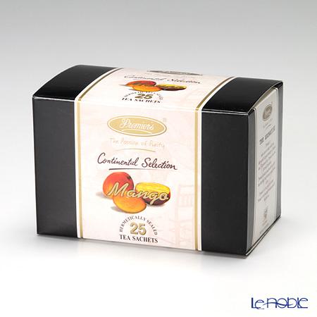 プリミアスティー(高級インド紅茶) コンチネンタルセレクション ティーバッグセット 25個入 マンゴー
