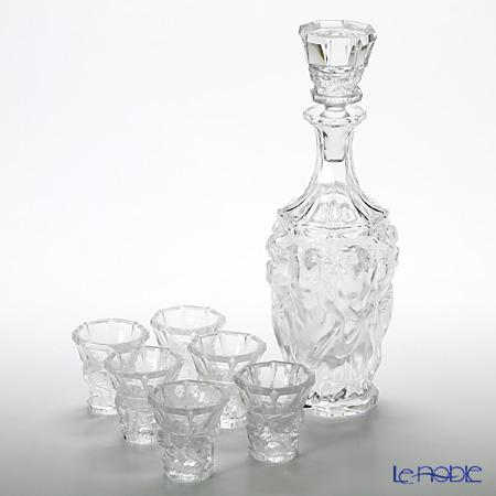 Frantisek Halama 'Montmartre' Clear FH-1656 Liqueur Glass & Decanter (set of 7 for 6 persons)