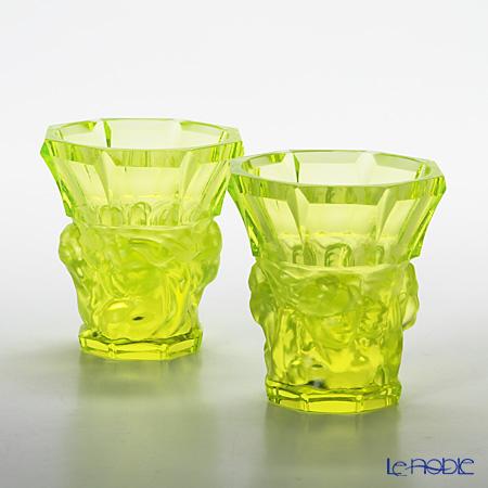 フランティシェク・ハラマ FH-1655グラス 2本セット モンマルトル uranit(ウランガラス)