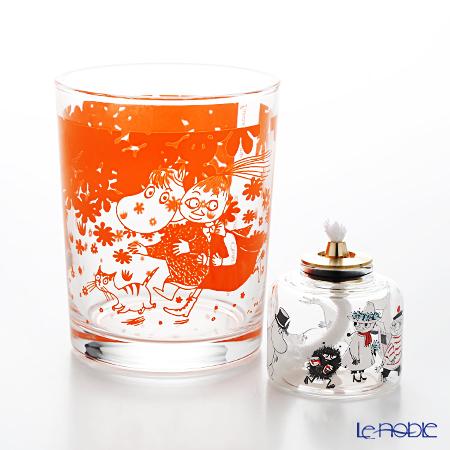 ルナックス ムーミン グラスランプ MLM-03+GB-300 オレンジブロッサム タンク&オイル1本(レインボーオイル)付 ギフトセット