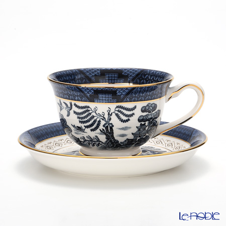 Nikko Blue Willow Coffee Cup & Saucer, 240 cc