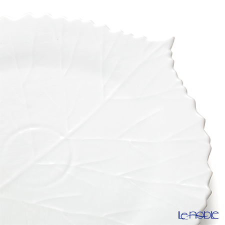 Jacques Pergay (Limoges) Pocket Tree Dining Plate (Leaf shape) JP3001PTWH