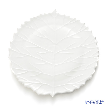 Jacques Pergay / Limoges 'Pocket Tree / Leaf' JP2301PTWH Dessert Plate 23x22cm