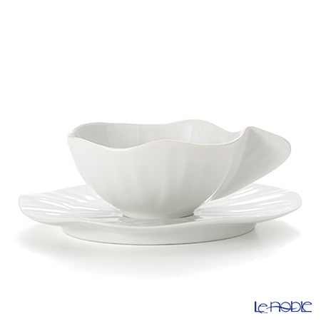 Jacques Pergay (Limoges) Lotus Espresso cup and saucer JP0204LOWH