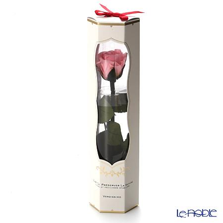 プリザーブドフラワー ヴェルディッシモ メディアベルローズ ブライダルピンク 白箱赤リボン