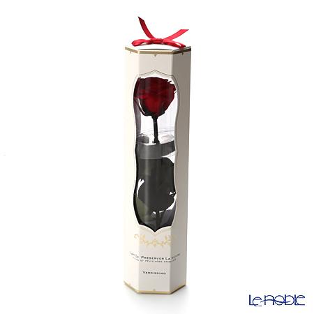 プリザーブドフラワー ヴェルディッシモ メディアベルローズローズレッド 白箱赤リボン