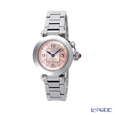 Cartier Miss Pasha  Ladies Watch Quartz, 27 mm, steel, pink dial, W3140008