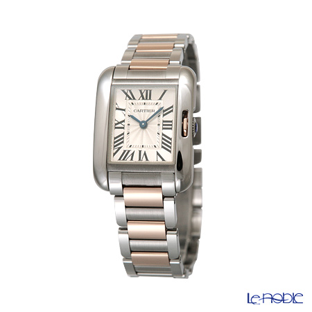 Cartier Tank Anglaise Ladies Watch Quartz, small model, 18K pink gold, steel, W5310036