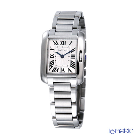 Cartier Tank Anglaise Ladies Watch Quartz, small model, steel, W5310022