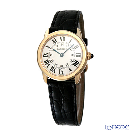 Cartier Ronde Solo De Cartier Ladies Watch Quartz, 29 mm, 18K yellow gold, steel, leather W6700355