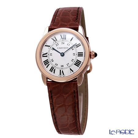 Cartier Ronde Solo De Cartier Ladies Watch Quartz, 29 mm, 18K pink gold, steel, leather W6701007