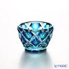 Satsuma Vidro Industrial Arts, Satsuma Kiriko, Sake Cup, 2-layered color, lapis lazuli blue, green 60cc 57775 萨摩切子 酒盅 双层套色/57775 琉璃/绿 60cc
