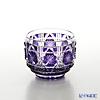 Satsuma Vidro Industrial Arts, Satsuma Kiriko, Sake Glass Octagonal cut, Purple A/1102 萨摩切子复原 酒盅 A/1102 八角笼目纹 紫