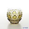 Satsuma Vidro Industrial Arts, Satsuma Kiriko, Sake Glass Octagonal cut Yellow A/1104 萨摩切子复原 酒盅 A/1104 八角笼目纹 黄