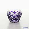 Satsuma Vidro Industrial Arts, Satsuma Kiriko, Sake Glass Diamond cut, Purple 1402 萨摩切子复原 酒盅 小/1402 矢来鱼子纹 紫